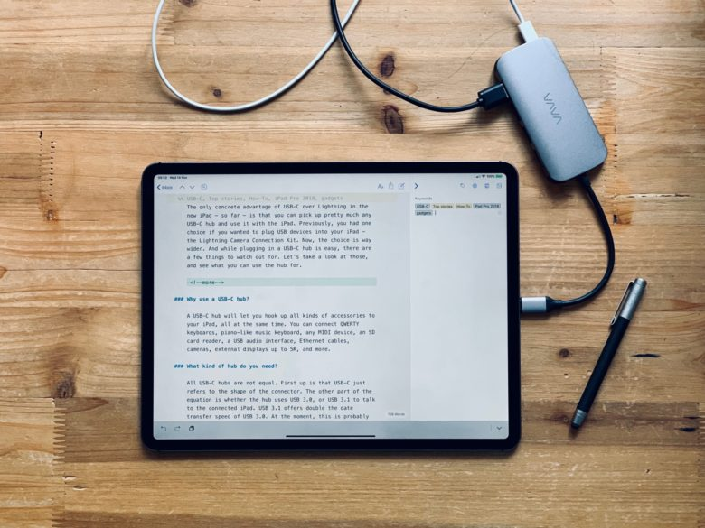 b33b49070dd How to use a USB-C hub with 2018 iPad Pro | Cult of Mac