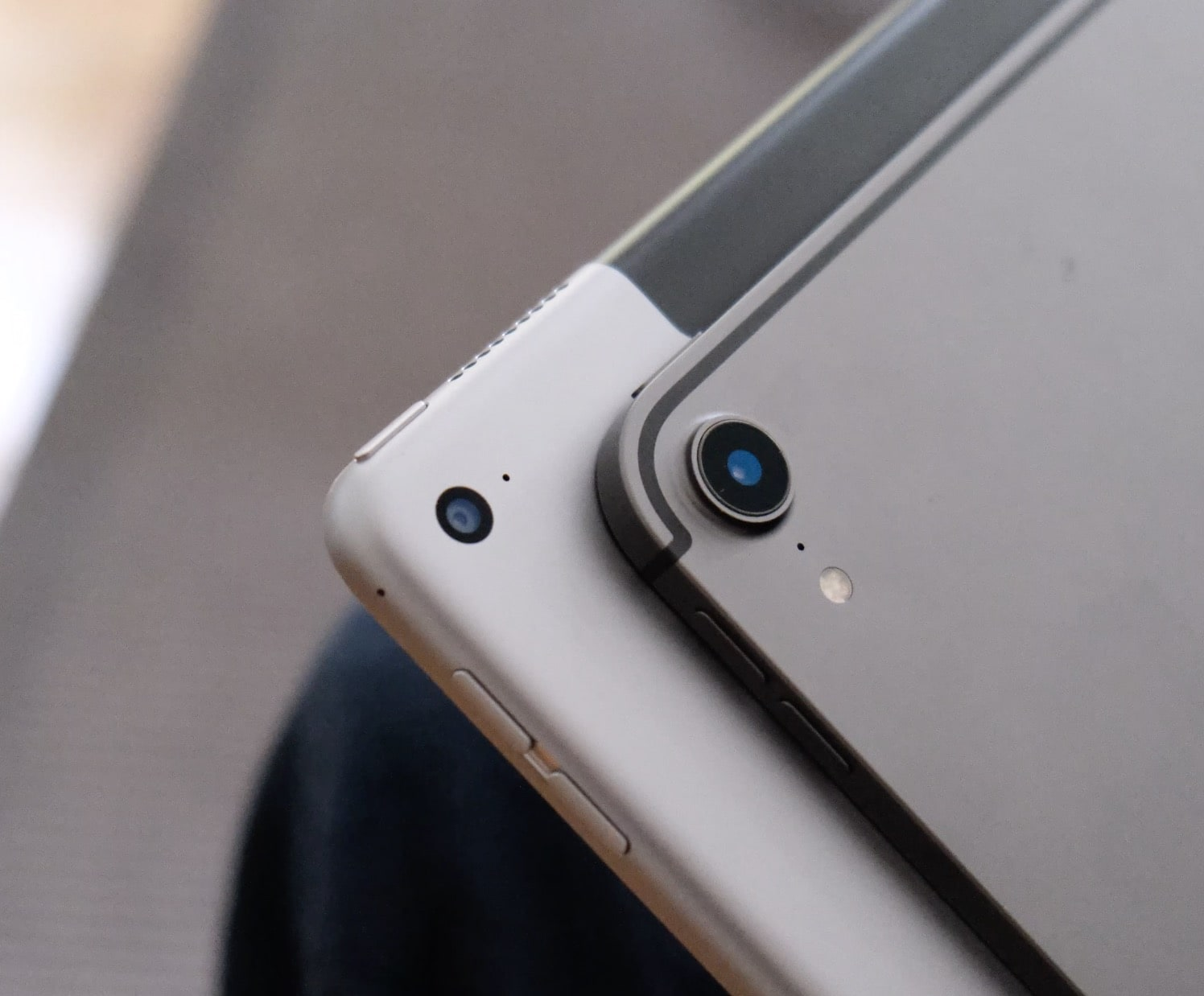 The new camera dumps all over the one in the first-gen iPad Pro.