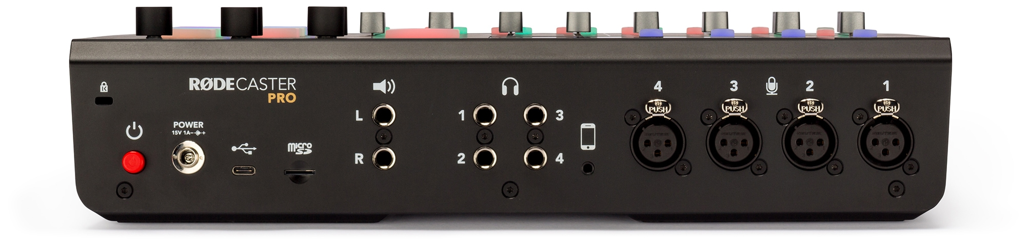 The RødeCaster Pro audio interface offers plenty of inputs and outputs.