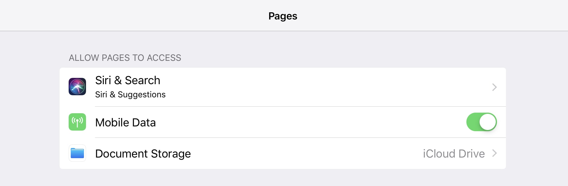 Pages is just the same.