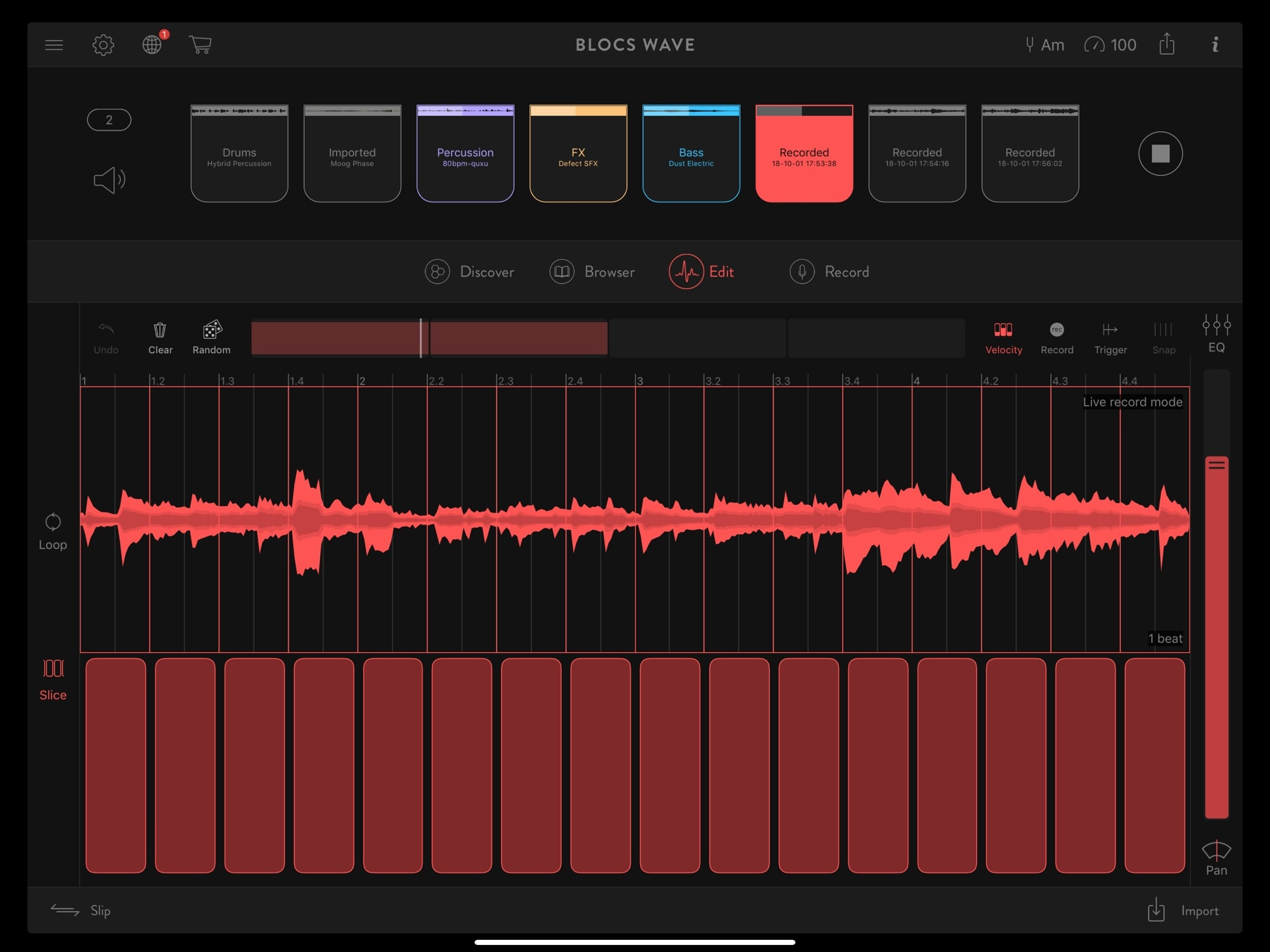 iOS music production app Blocs Wave is enough to build entire tracks.