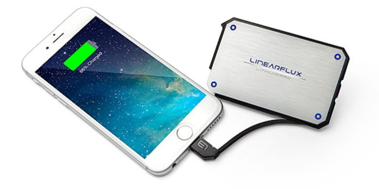 This is the ultimate in portable power, with enough power for 2 devices at once, yet able to fit in most wallets.