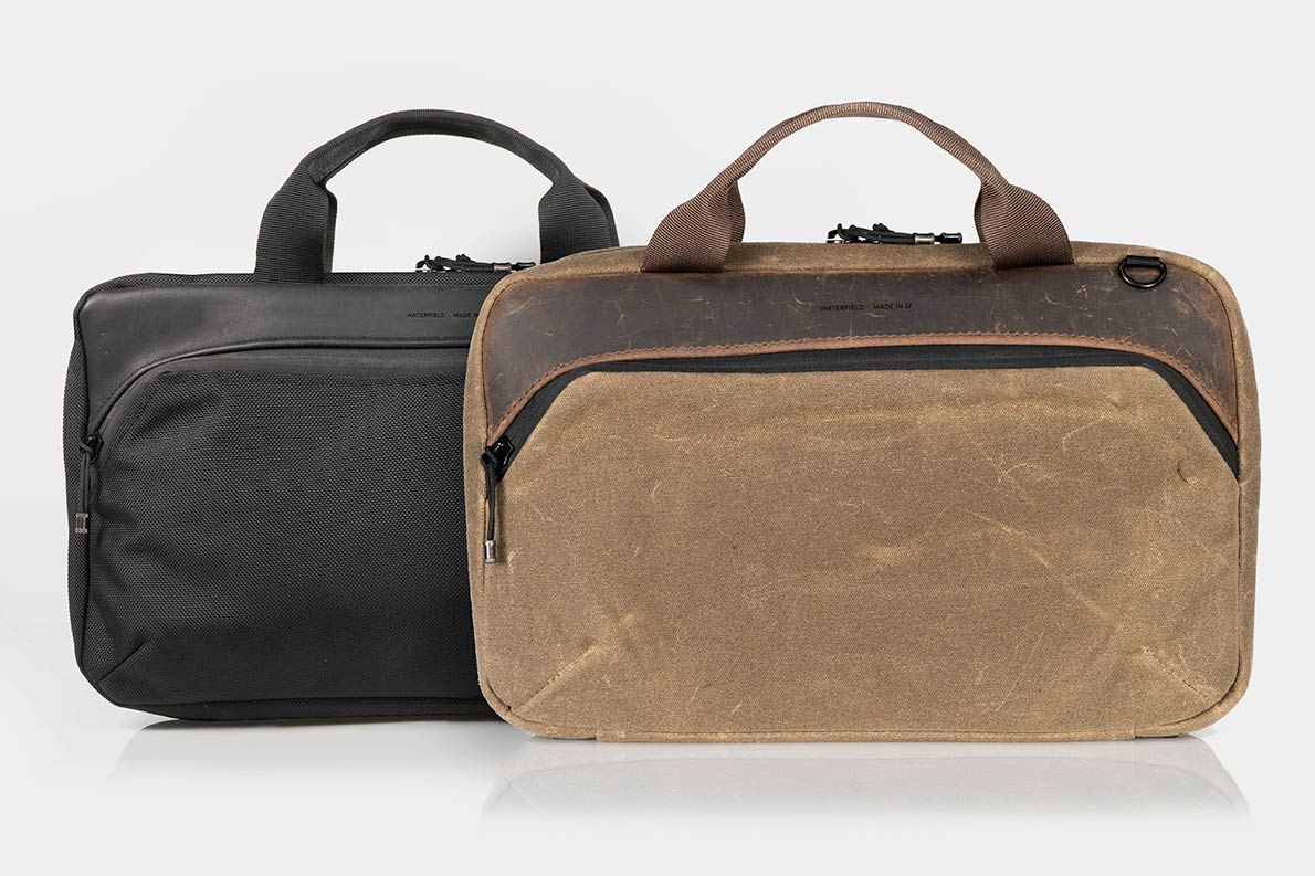 The Waterfield Mac Mini Travel Case Comes In Waxed Canvas Or Ballistic Nylon