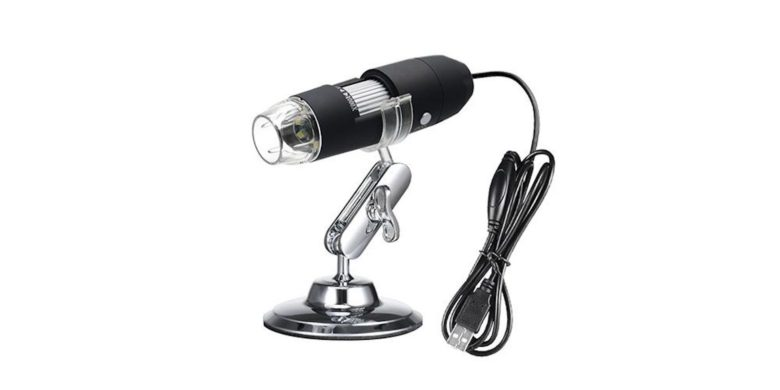 Get a window into the micro-world with this USB-connected microscope camera.