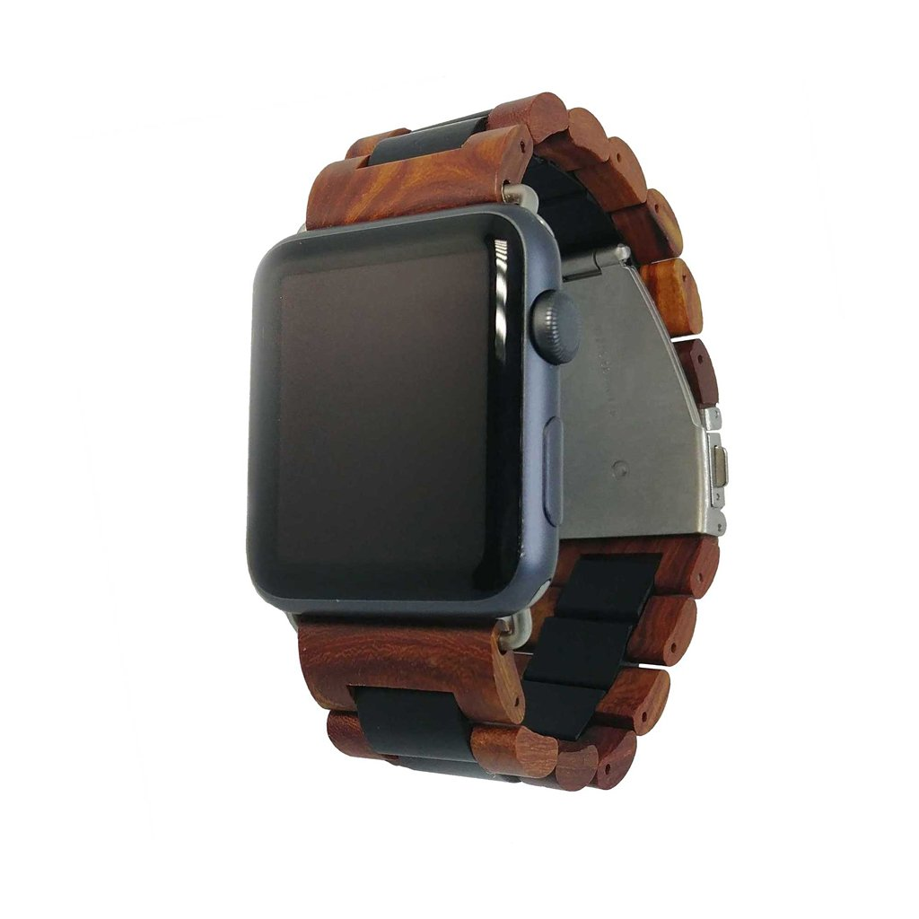 This wood Apple Watch band from Ottm, made from genuine Indonesian sandalwood, looks simply stunning