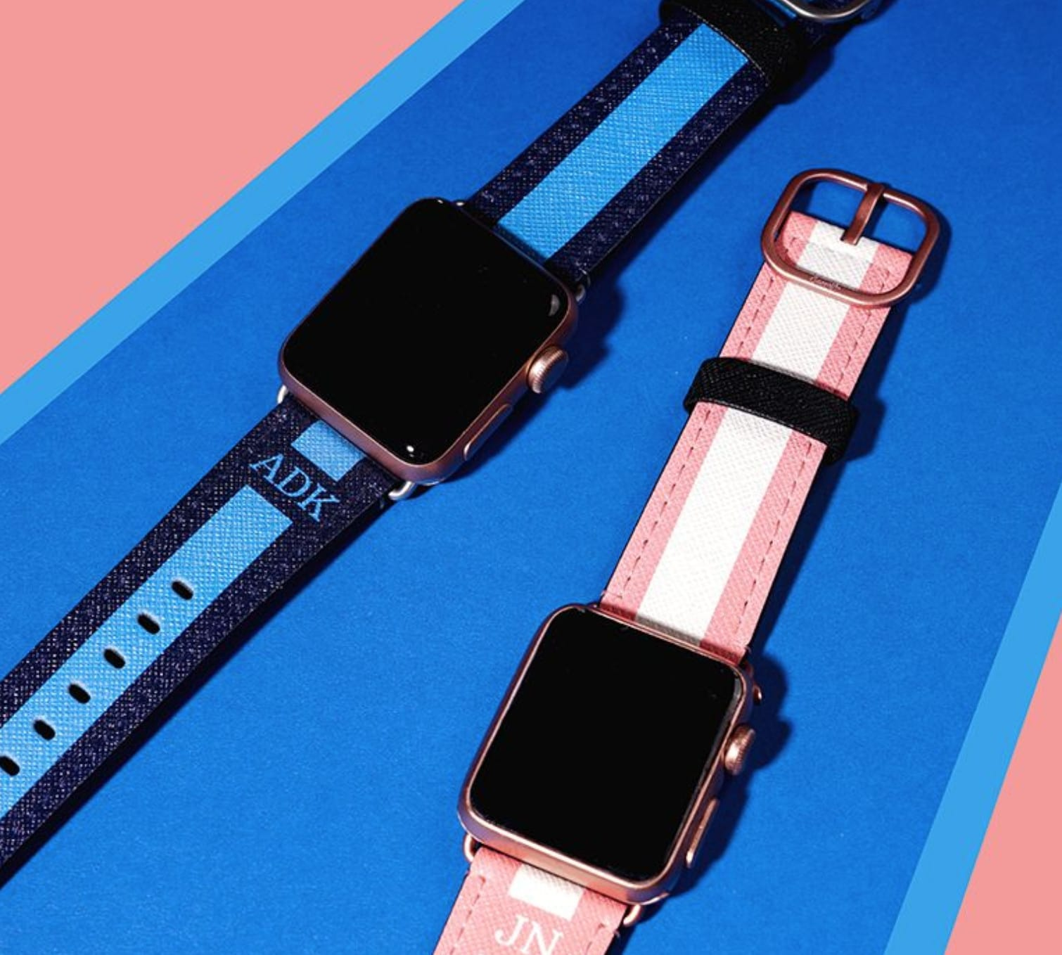 Casetify's saffiano leather printed bands pack a punch in style and durability.