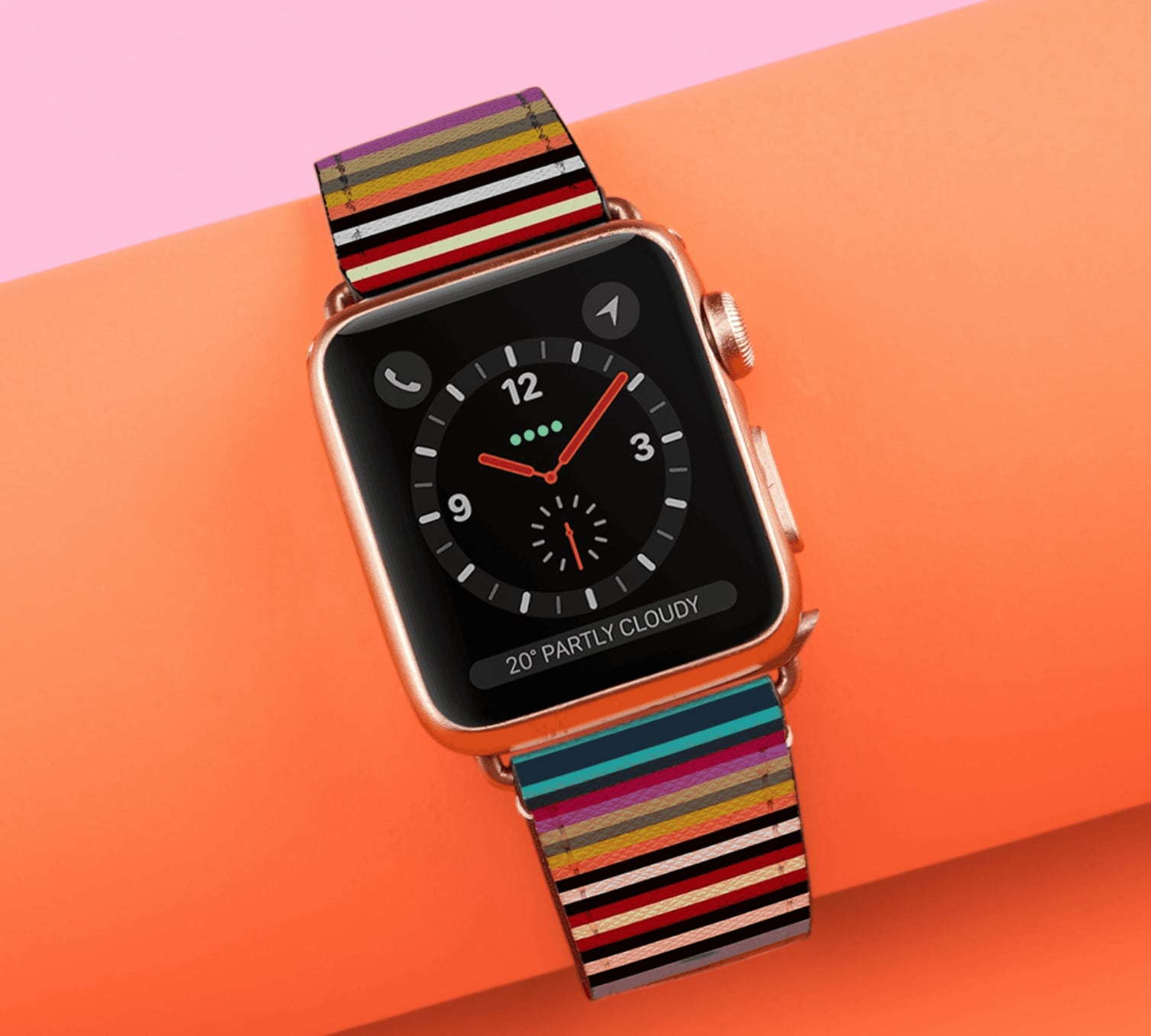 Go stripes! Casetify saffiano leather bands are timeless and chic.