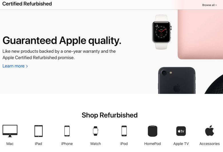 Apple refurbished