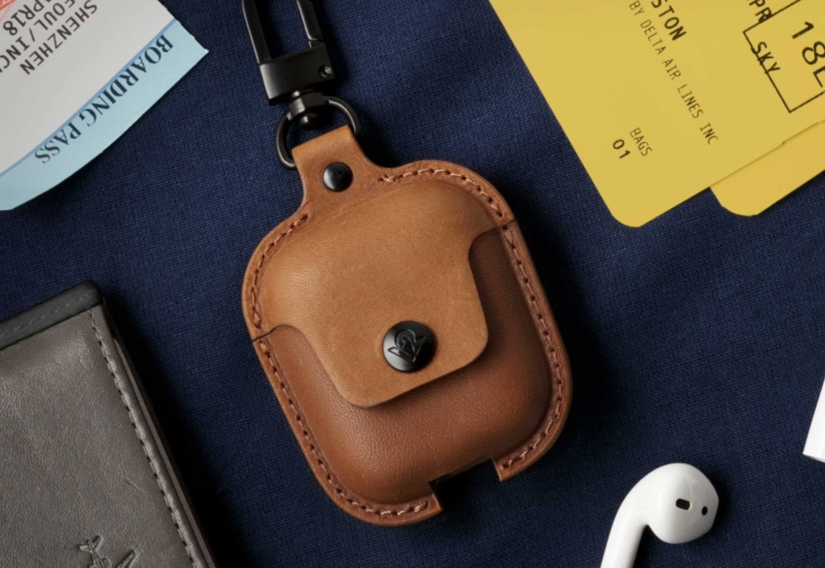 A gorgeous leather case armors your new AirPods 2 against theft, damage, and debris.