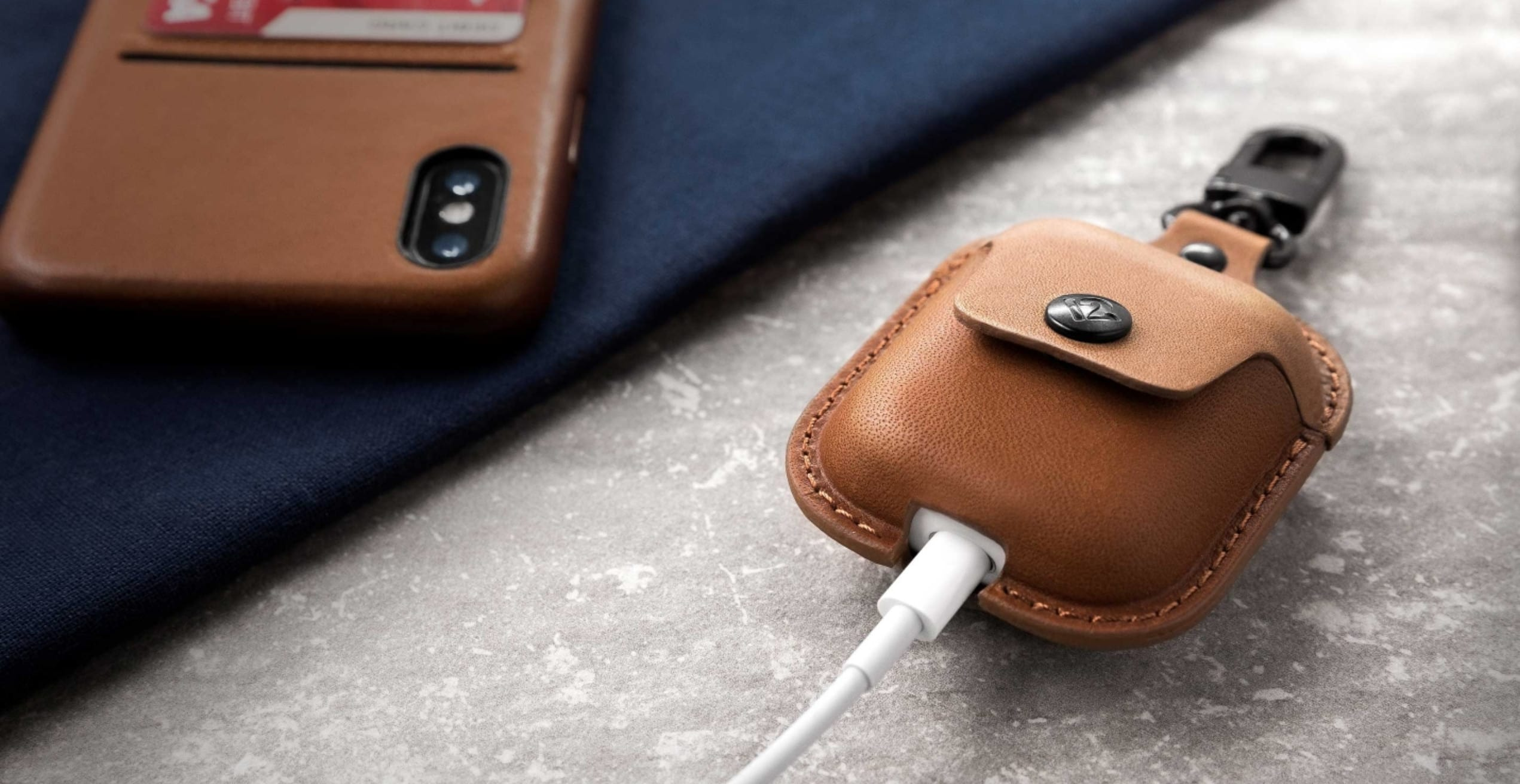 With the handy cutout on the bottom, you can recharge your AirPods without ever taking them out of this chic case.