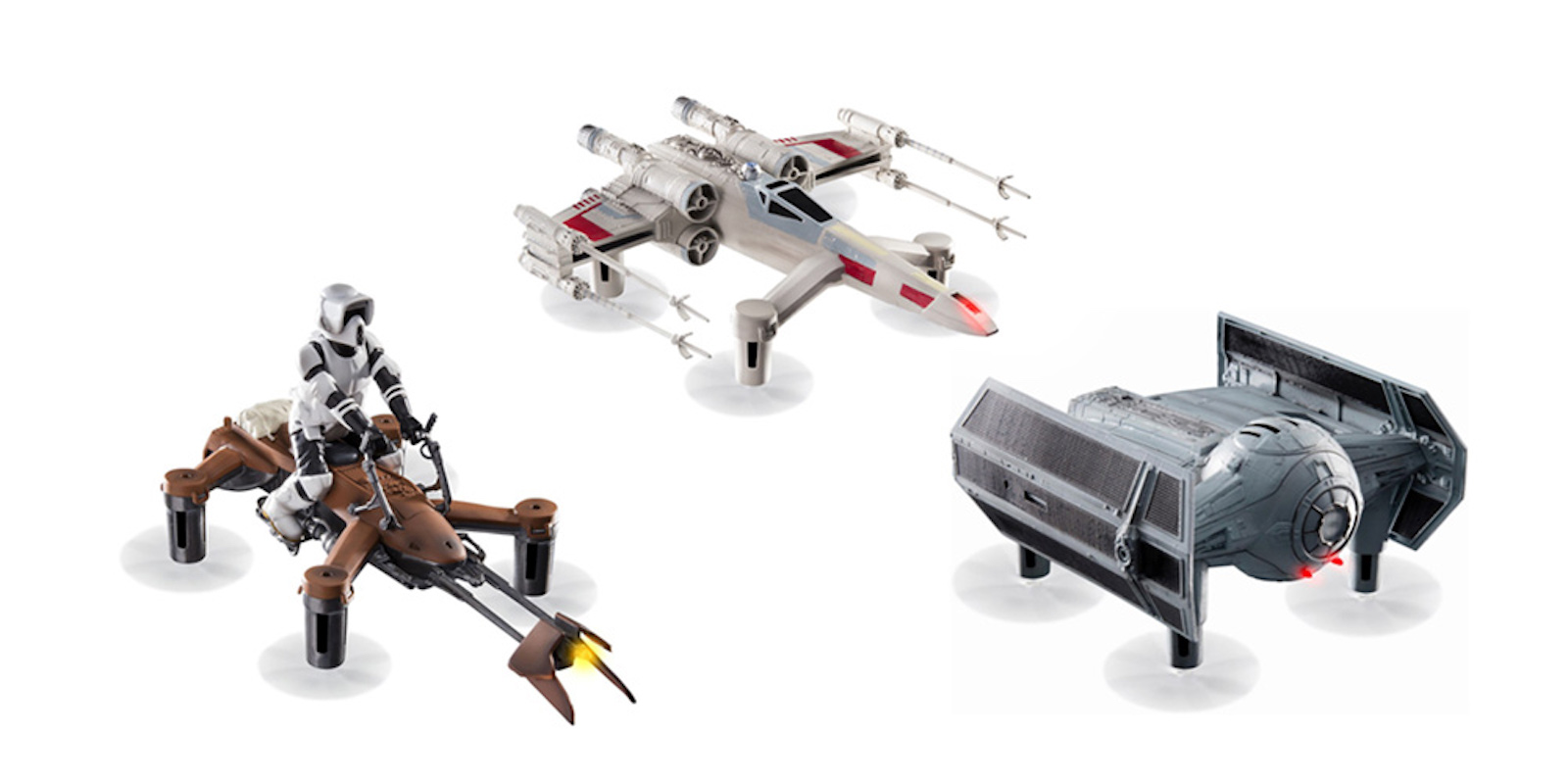 Re-enact dogfights with these Star Wars drones.