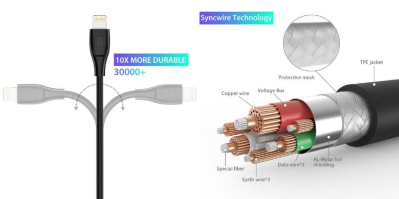 These Lightning cables are rated for 30,000 bends, meaning they'll probably outlive a couple of iPhones.