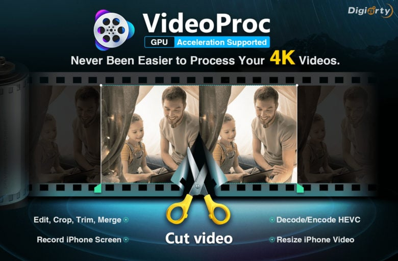 Easy-to-use Mac app VideoProc makes video processing simple.