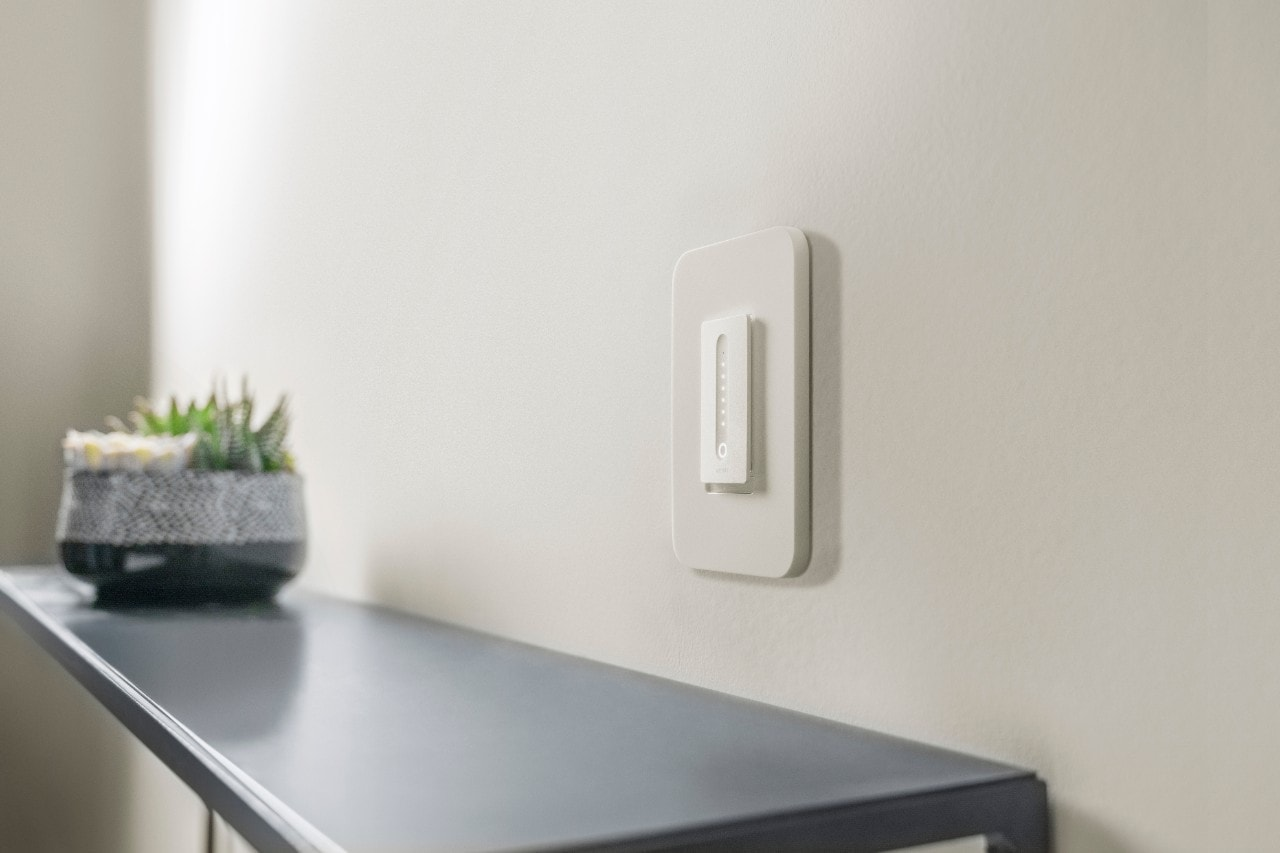 The Wemo WiFi Smart Dimmer looks modern.