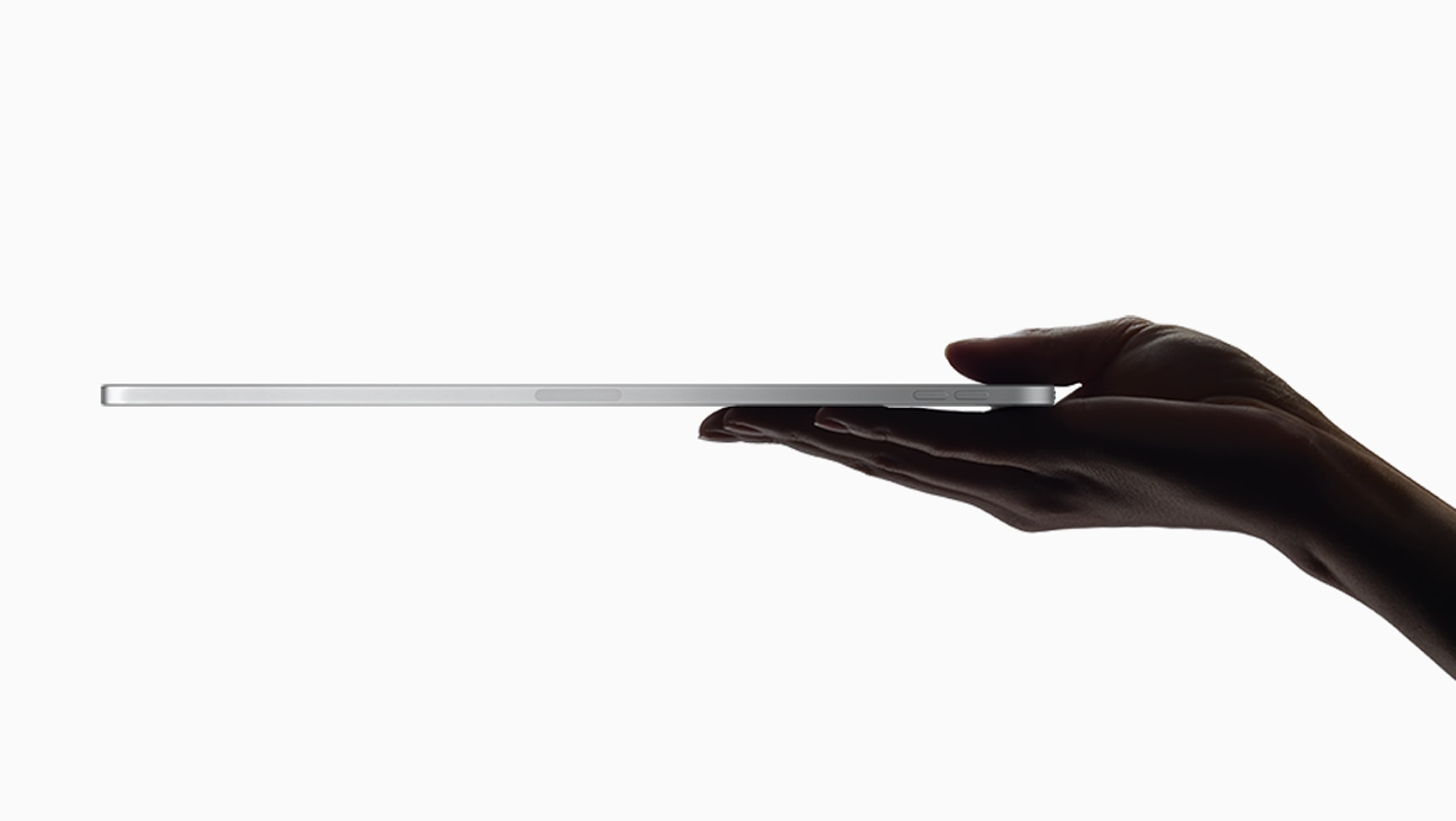 The new 2018 iPad Pro is Apple's thinnest tablet yet.