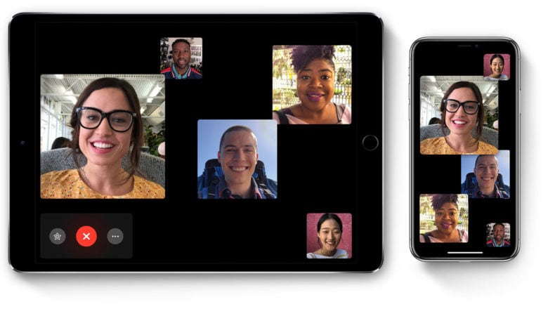 Group FaceTime is super easy to use.