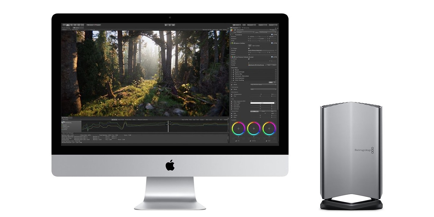 A Blackmagic eGPU Pro can up the graphics capabilities of your iMac.