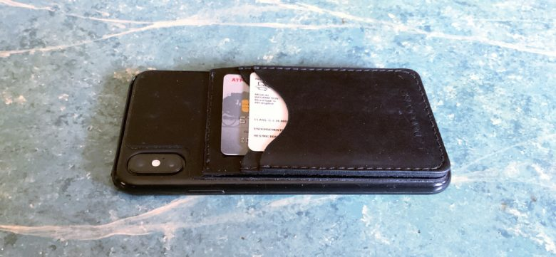 Dodocase Leather Kickstand Cardcase is a bit thick.