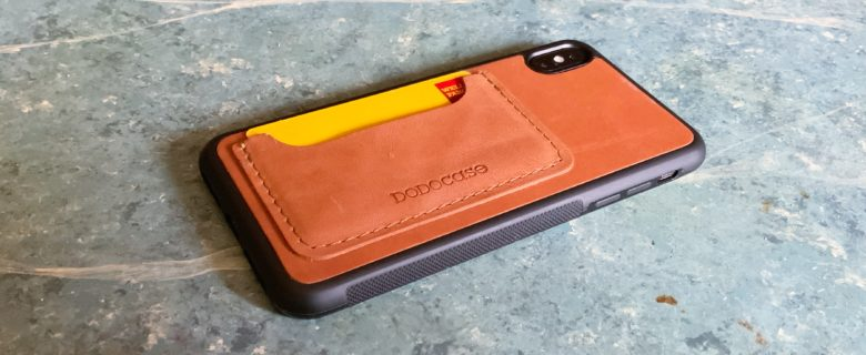 The Dodocase Shockproof Cardcase adds protection for the sides and back of the iPhone.