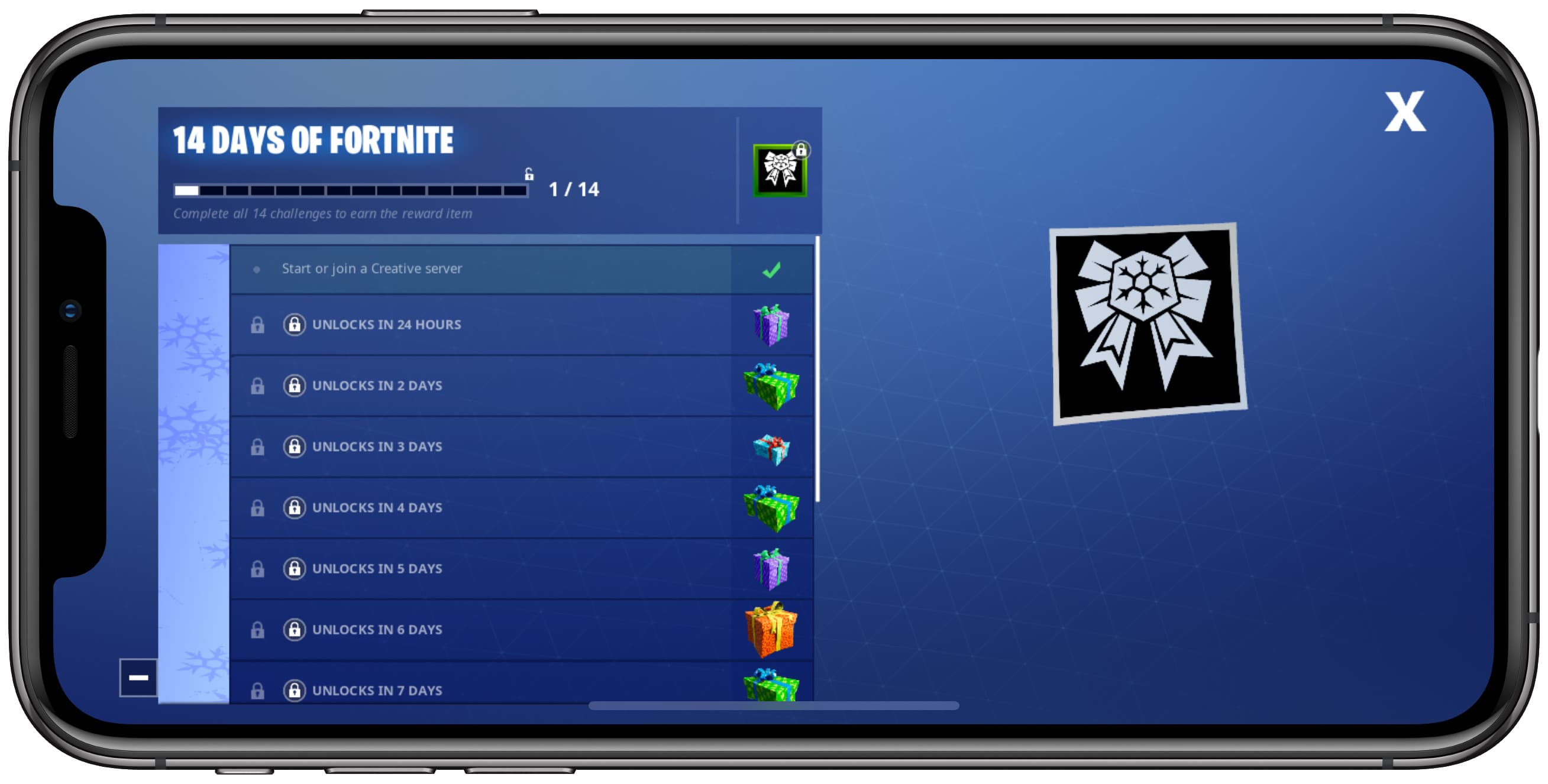 14 Days of Fortnite iPhone