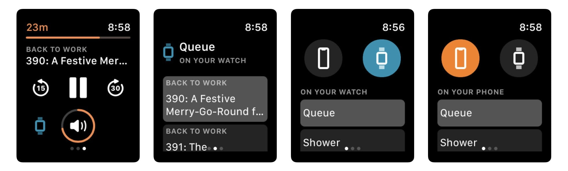 Overcast can even sync podcasts overnight, so you listen without your iPhone.