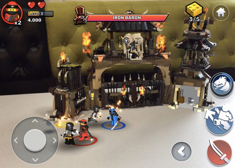 Lego Ninjago AR brings playsets to life in a mixed reality in game.