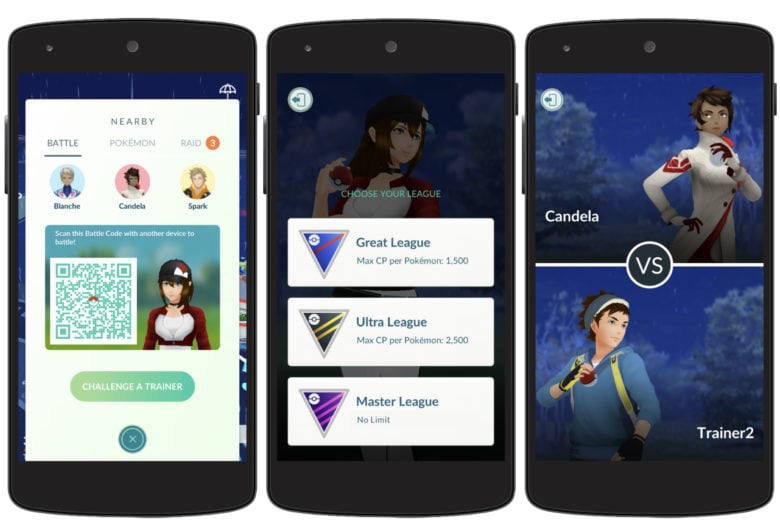 Take the fight to other trainers in Pokémon Go battles