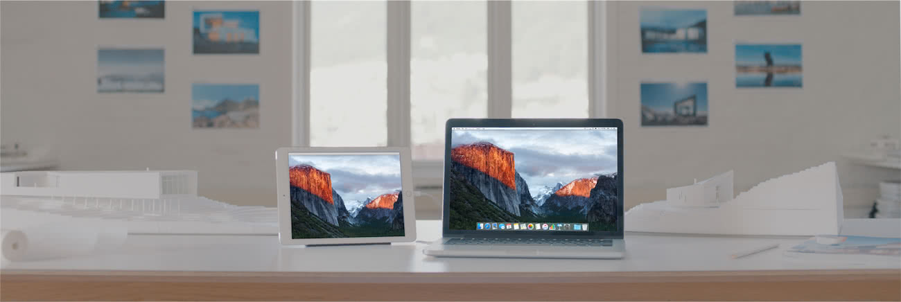 Duet Display uses a Mac app to do the mirroring.