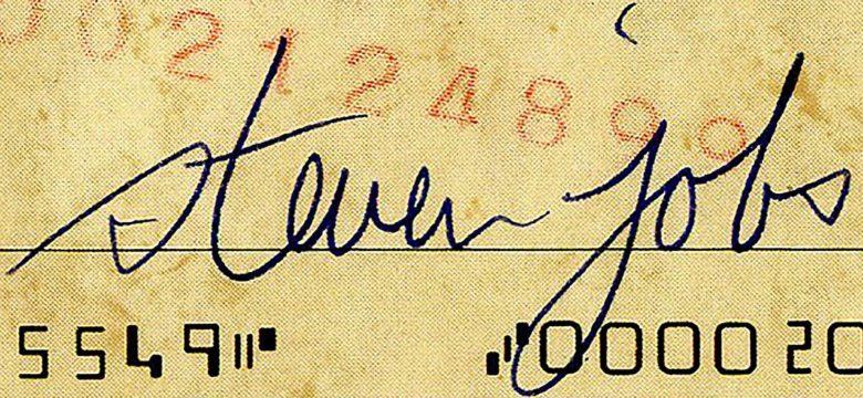 Steve Jobs autograph