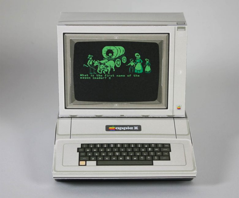 This free Apple II papercraft project will take you back to your Oregon Trail days.