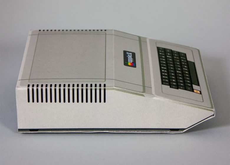 You don't have to include the monitor to enjoy the Apple II papercraft model