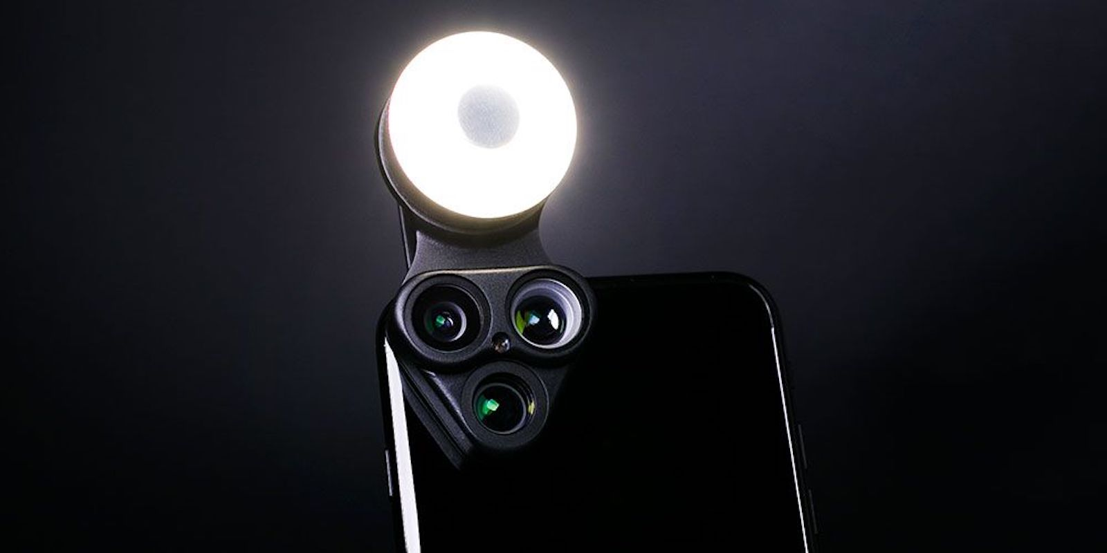 Instantly enhance the photo capabilities of your iPhone with three lenses, an LED flash, and more.