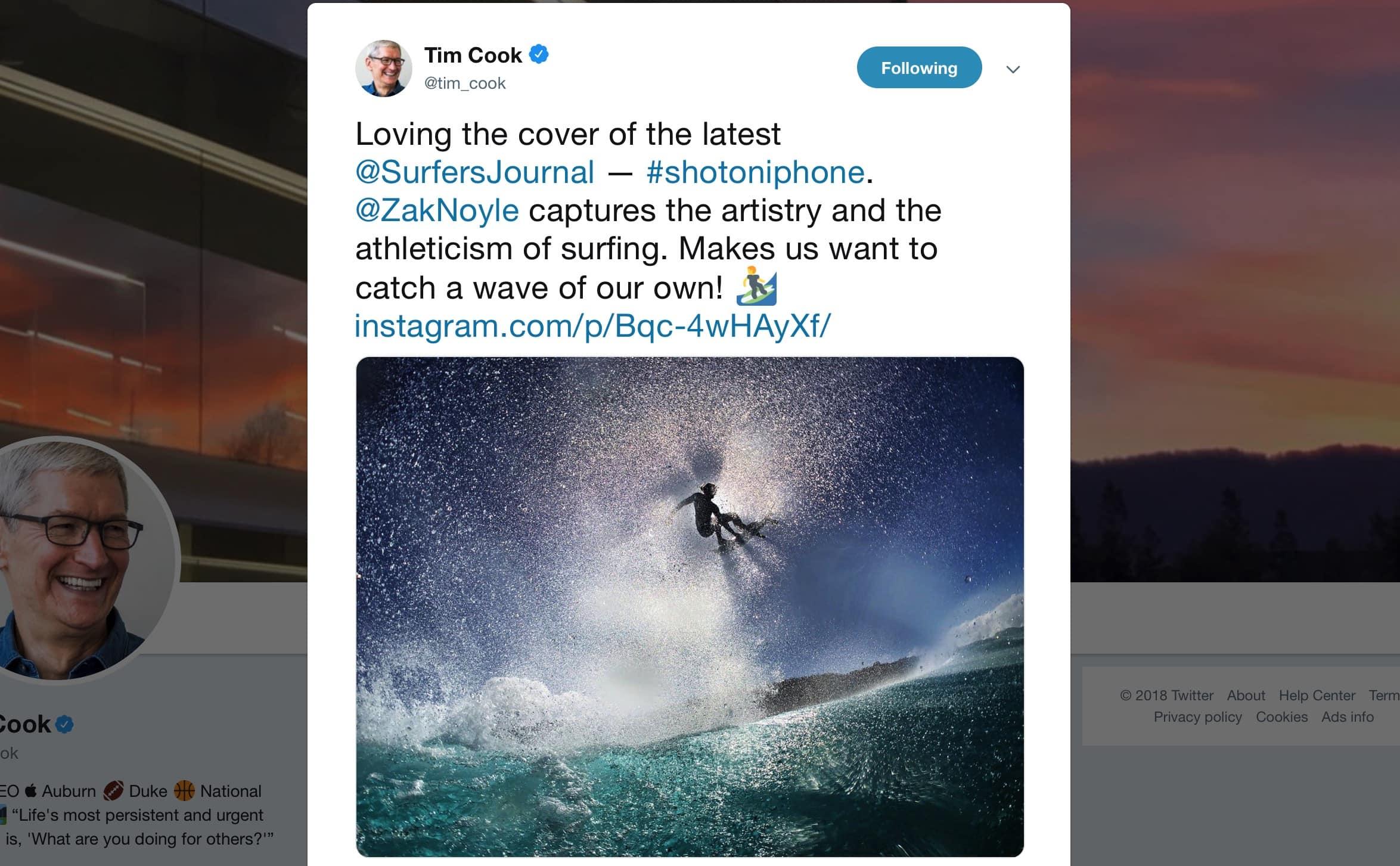 Tim Cook/Twitter 2