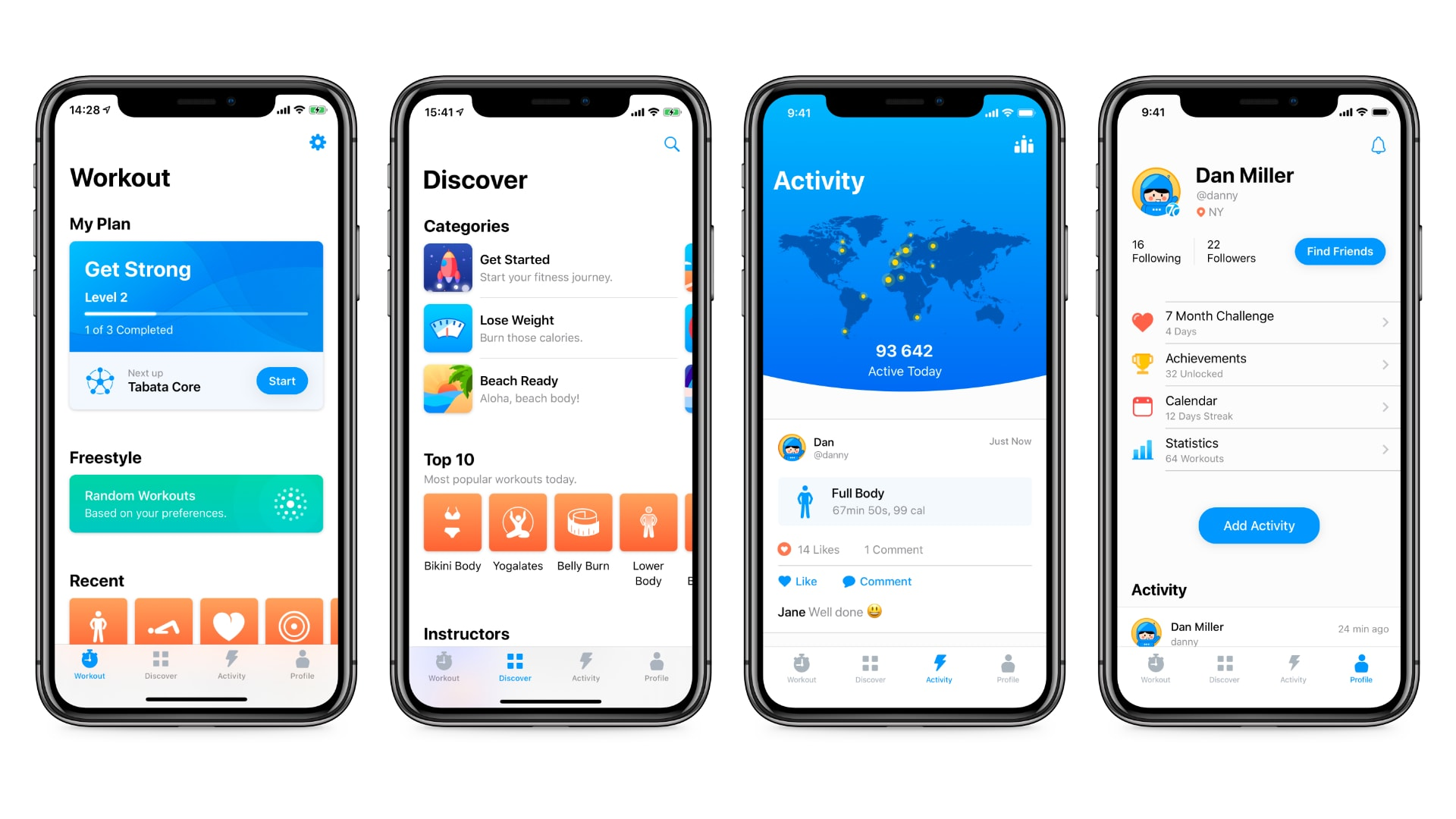 Seven app for iPhone