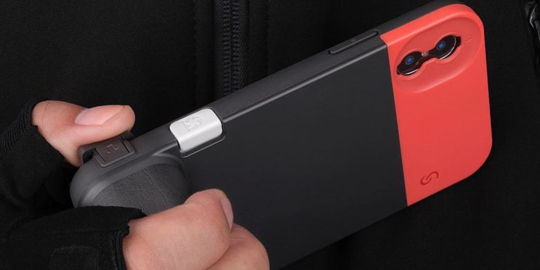 This battery case is cleverly designed to make your iPhone look and feel like a 135mm camera.