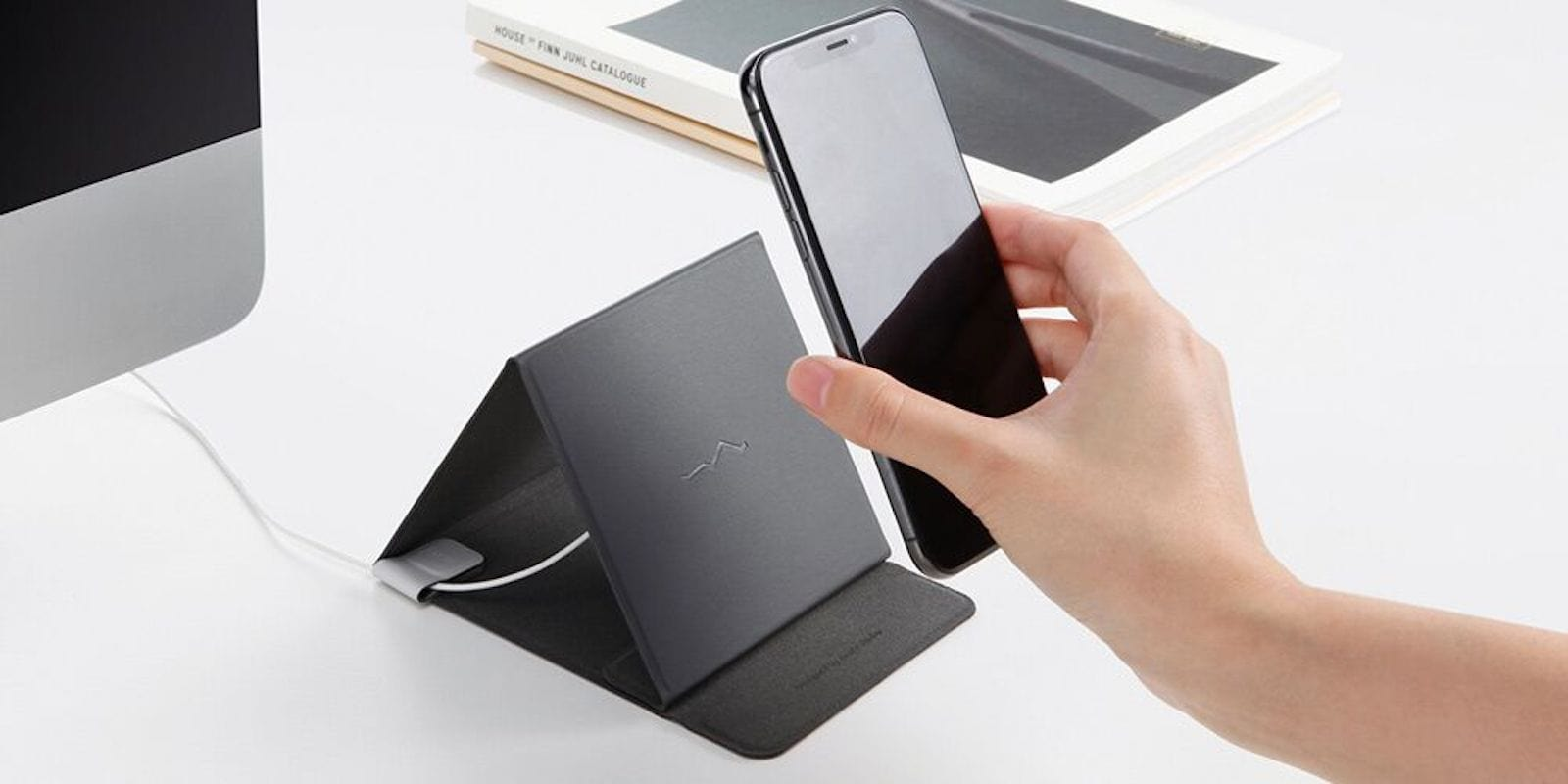 This wireless charger goes anywhere you do, with 3 different positions so you can keep using your device while it charges.