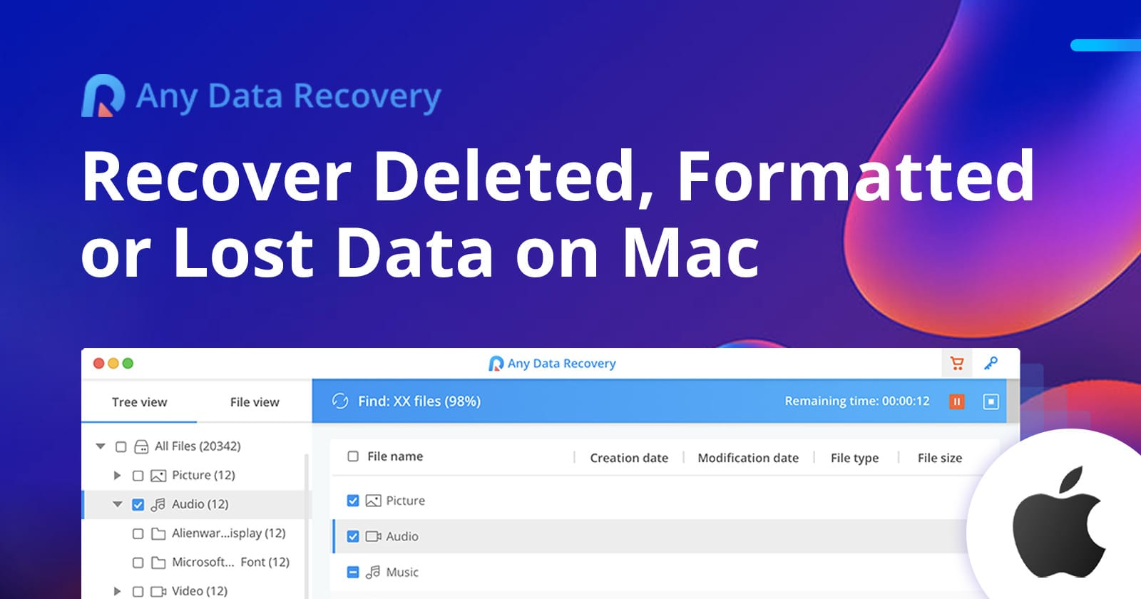 Any Data Recovery for Mac takes a deep dive into damaged or corrupted drives to recover lost files and data.