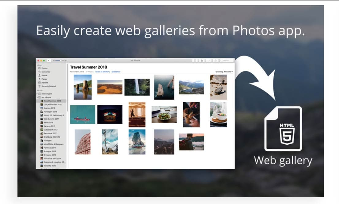Speedy Mac App Turns Photo Folders into Elegant Web Galleries