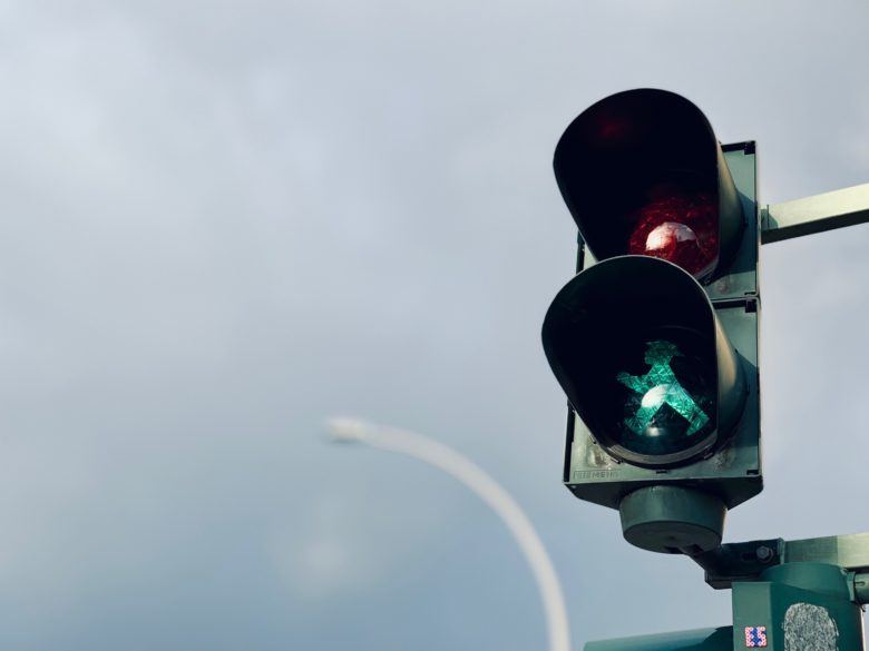 Traffic lights as metaphor for motivation streaks