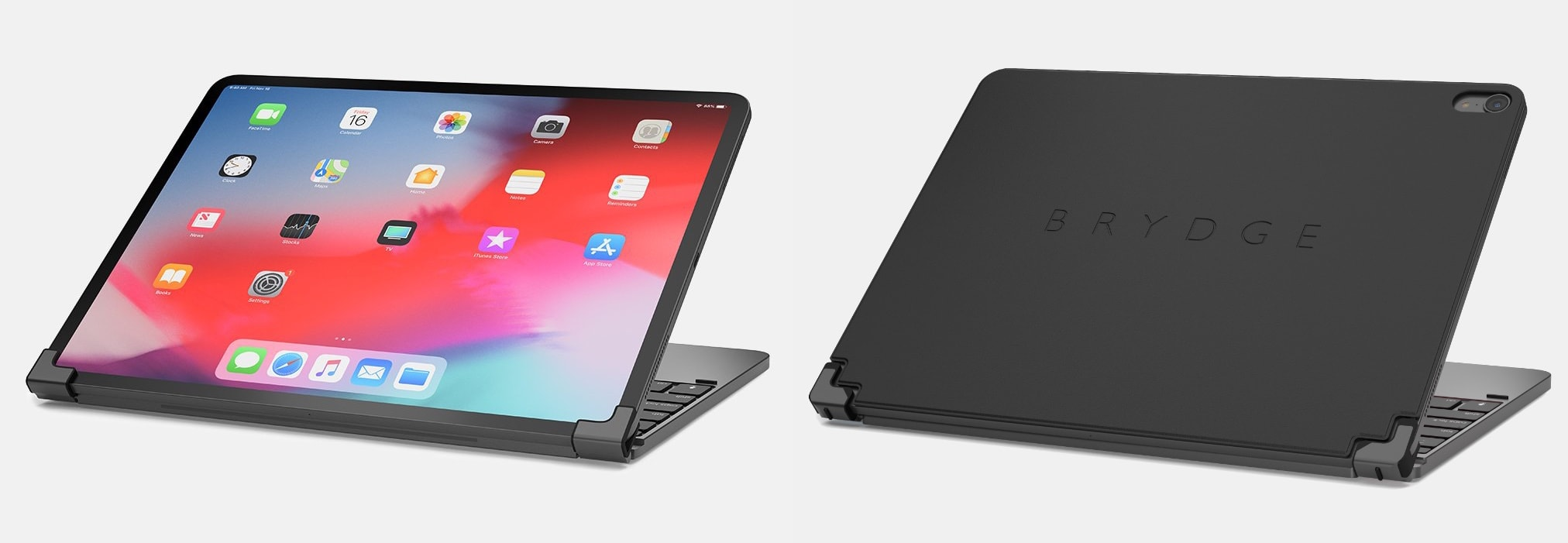c77eda04d49 The Brydge 2018 iPad Pro keyboard has a cinema mode and protection for back  of the