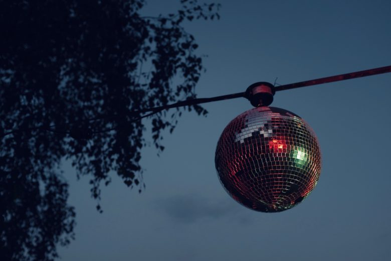 A glitter ball represents the concept of low-light and accessibility low-light filter
