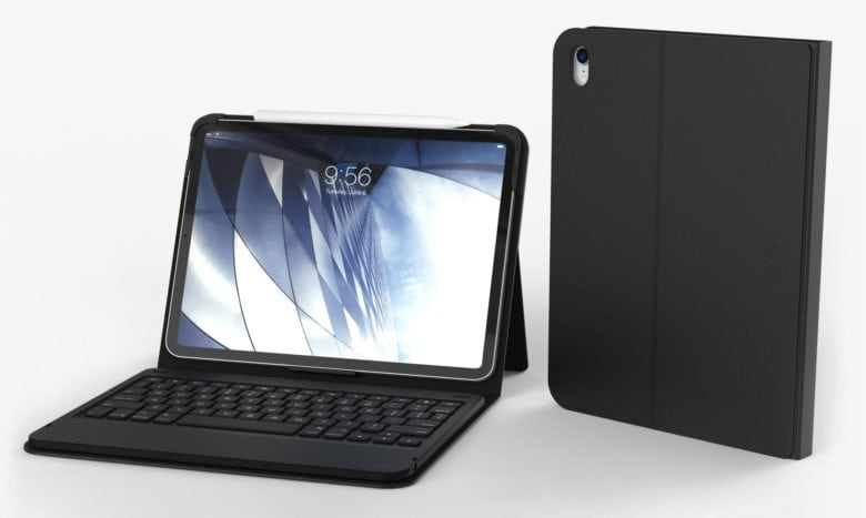 The Zagg Messenger Folio is a lightweight keyboard case for the 2018 iPad Pro.