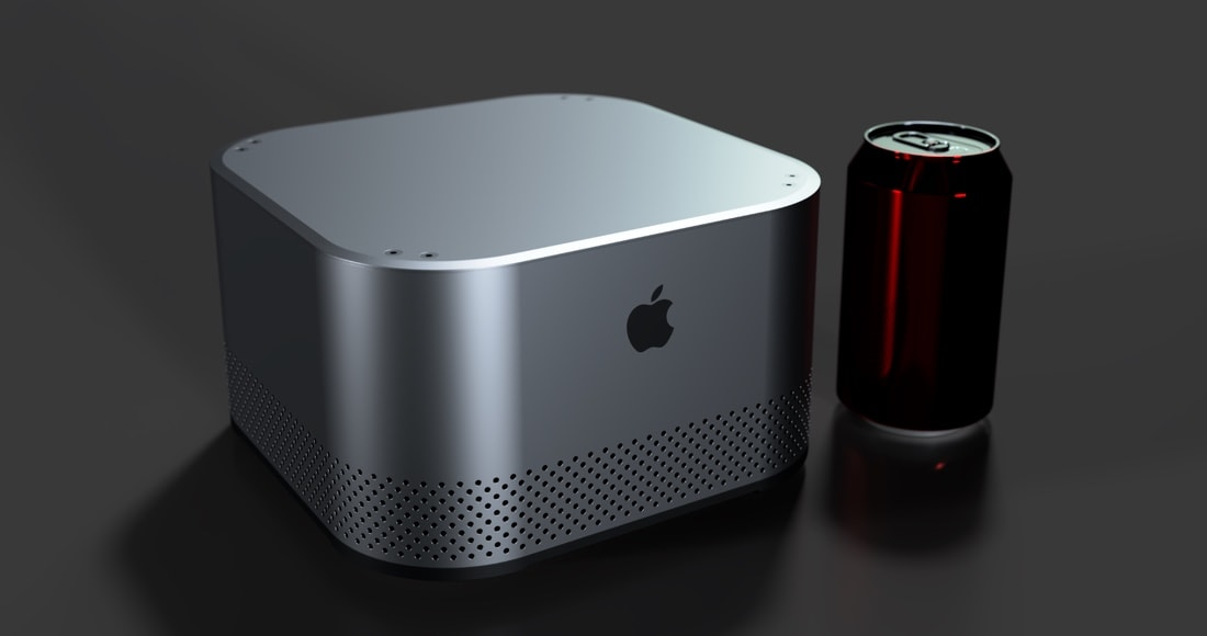 The Mac Evo would fit between the Mac mini and Mac Pro in Apple's lineup.