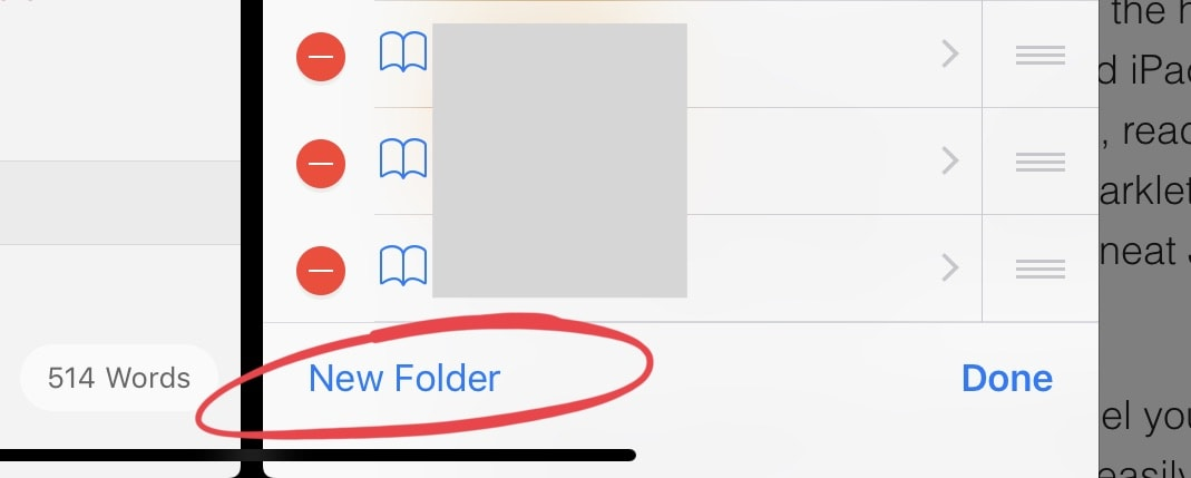 Create a folder right in your Favorites bookmark bar.