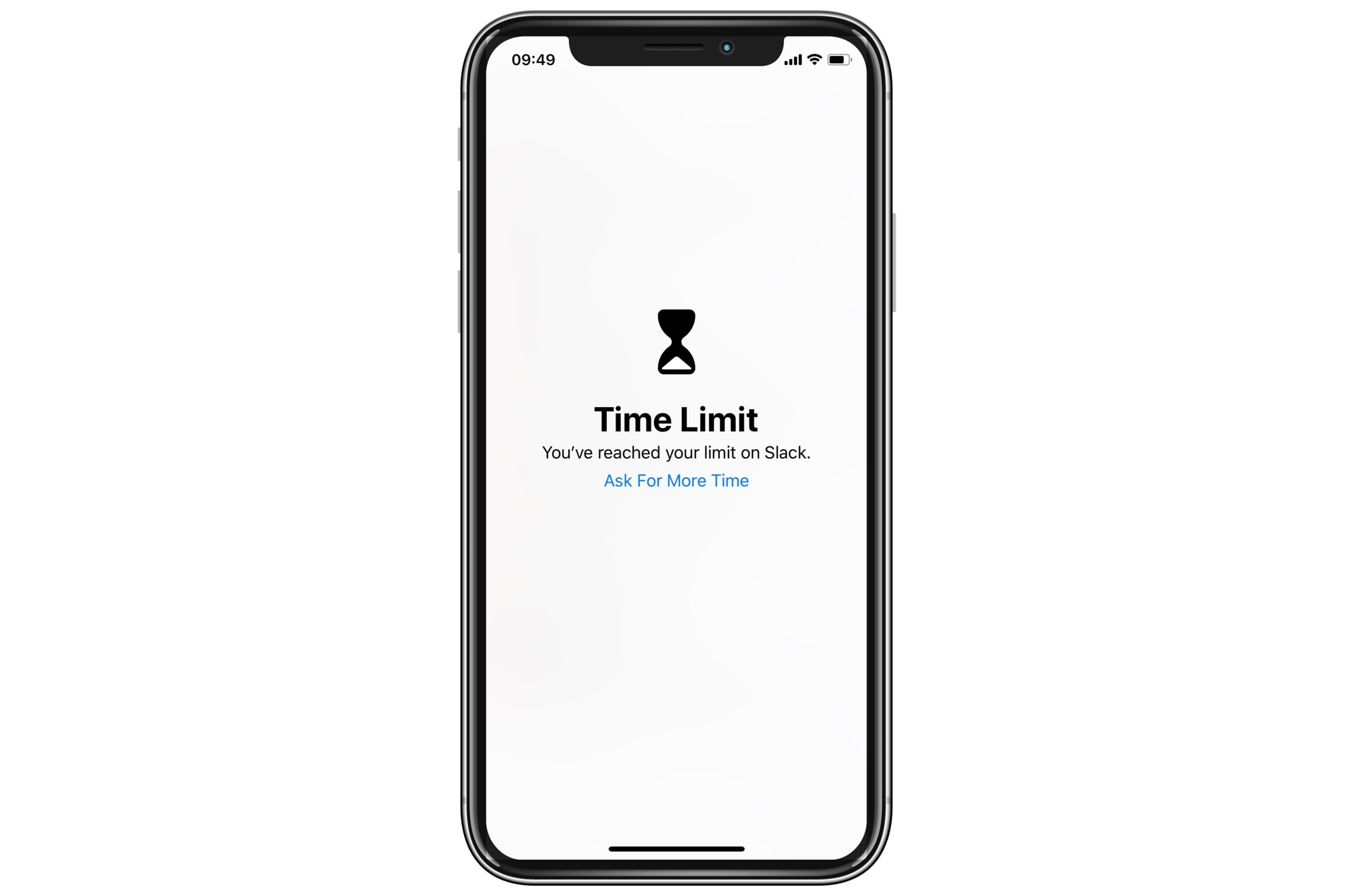 Screen time passcode lock
