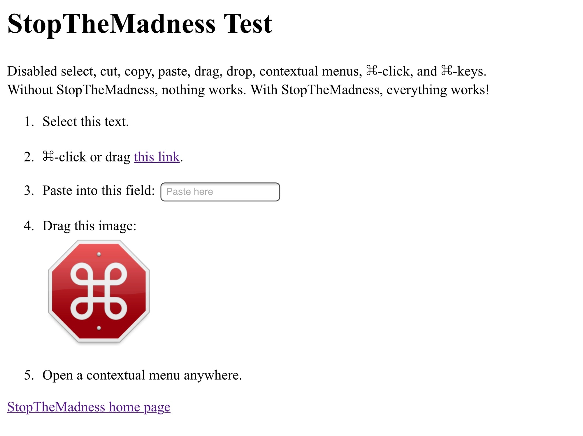 The StopTheMadness test page is a real eye-opener.