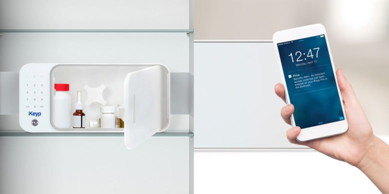 With Wi-Fi connectivity, smartphone access and other cool features, the iKeyp smart safe is ideal for storing often-used valuables like meds, passports, and more.
