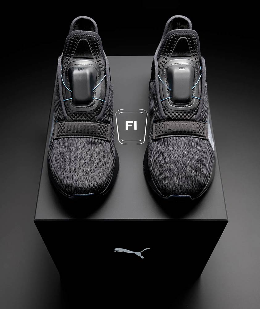 Puma unveils Fi self-lacing trainers