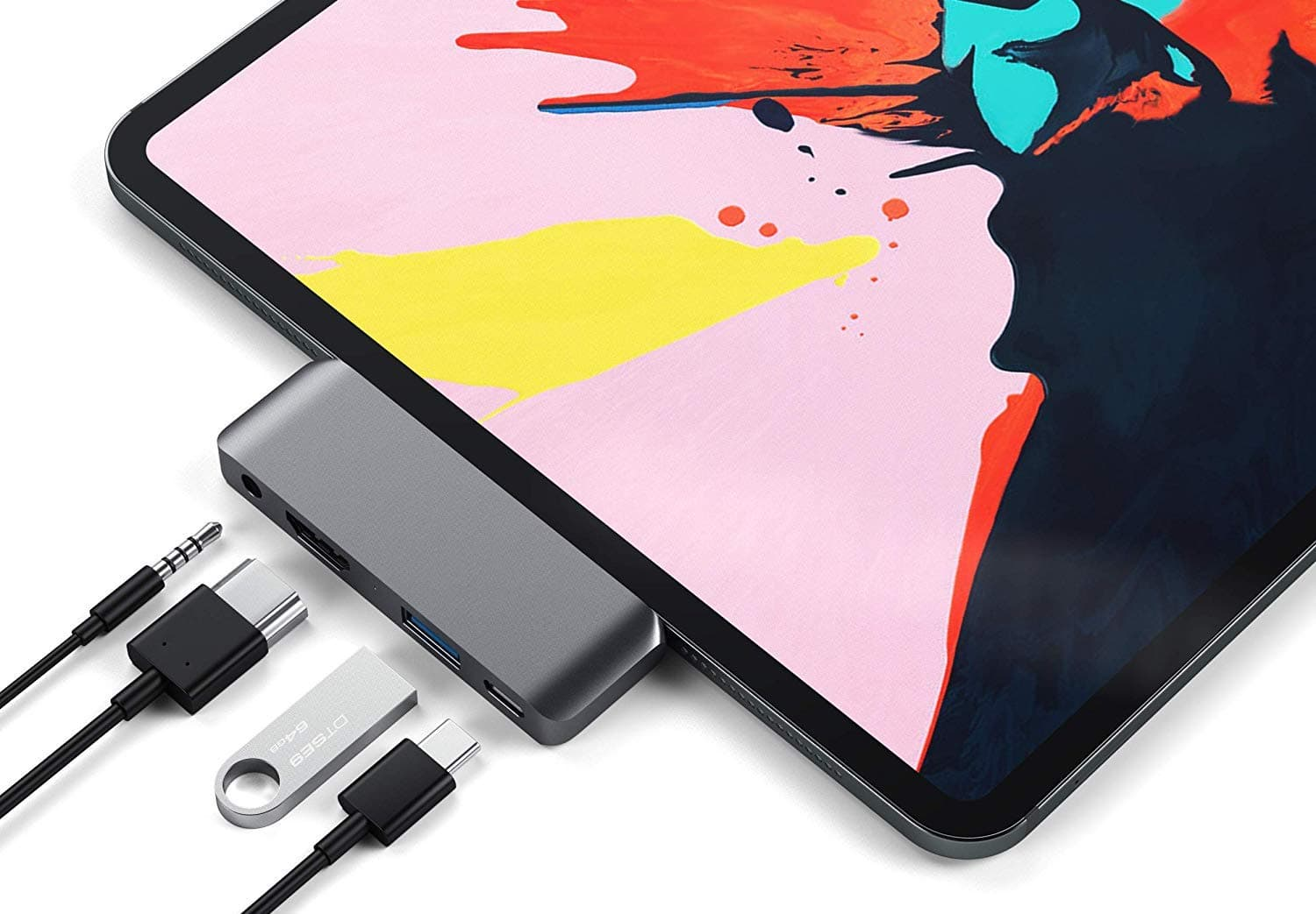 Satechi USB-C hub for iPad Pro