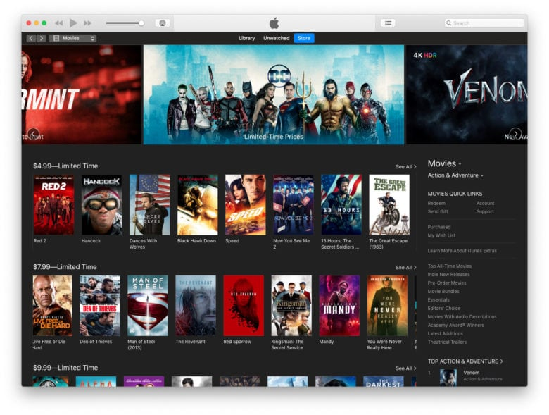 Itunes Celebrates The New Year With 5 Movie Deals